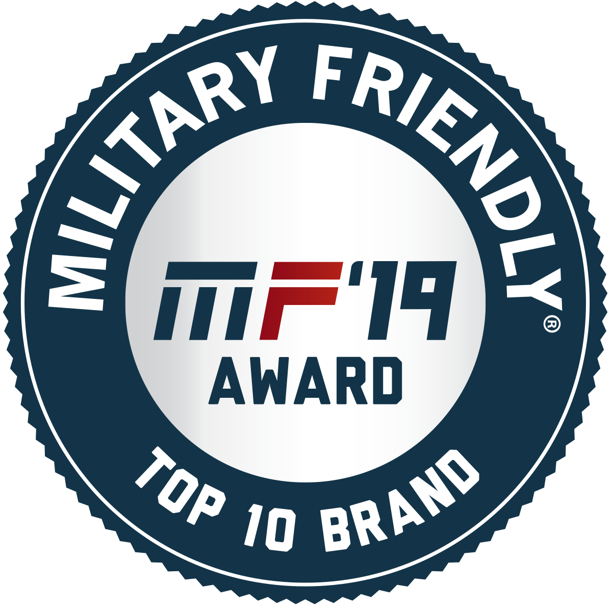 2019 Military Friendly® Top 10 Brand